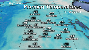 Saskatoon weather outlook: -30 wind chills, risk of frostbite Friday