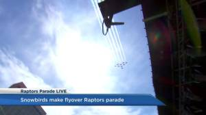 Raptors victory parade: Snowbirds fly over Nathan Phillips Square