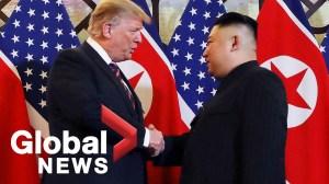 Donald Trump and Kim Jong Un share handshake, smiles to kick off 2nd summit
