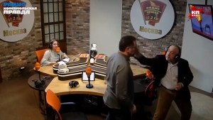 Russian journalists start throwing punches during live radio interview
