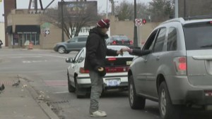 Homeless Detroit man claims to accept credit cards