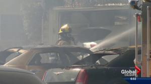 Fire destroys two homes in Monterey Park