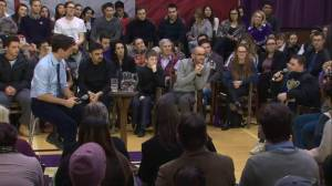 Syrian refugee tears up thanking Justin Trudeau