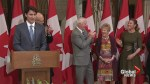 Trudeau honours Governor General's wife for her dedication to public service