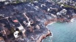 Drone footage shows extent of Greek wildfire devastation