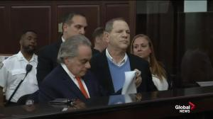 Harvey Weinstein appears in New York court