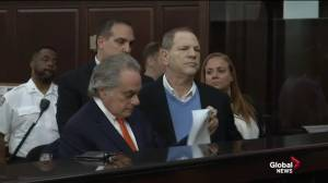 Harvey Weinstein appears in New York court on rape charges