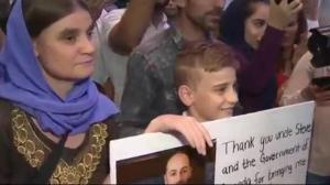 Yazidi Mom and Son reunited in Canada after ISIS capture