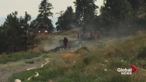 Grass fire near Kelowna cemetery extinguished (00:21)