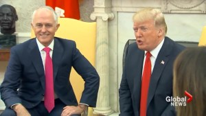 Trump welcomes Australia's Turnbull to White House for bilateral meetings