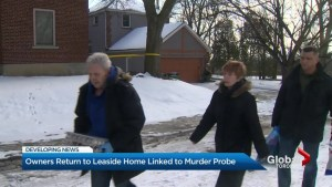 Owners of Leaside home linked to alleged serial killer return briefly