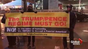 Anti-Trump protest held at college football championship game