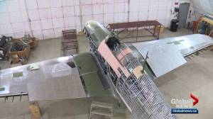 Restoration almost ready on rare WWII Hawker Hurricane in Wetaskiwin