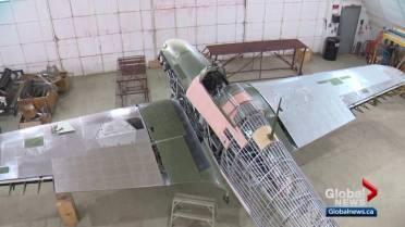 Rare WWII Hawker Hurricane plane restoration almost complete