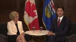 Trudeau talks Trans Mountain with Alberta's Notley