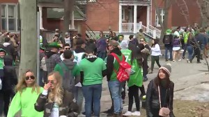 Arrests made under Kingston's 'Nuisance By-Law' at St. Patrick's Day street party