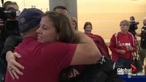 Team Canada goalkeeper Stephanie Labbe returns to Edmonton from Rio