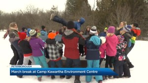 Learning about the environment during March break camp in Peterborough
