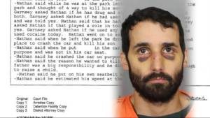 Man leaves infant son unrestrained in car, intentionally slams into other cars at 120 km/hr