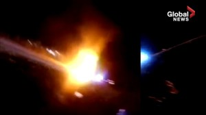 Body-cam footage shows police saving man from flaming car before it explodes
