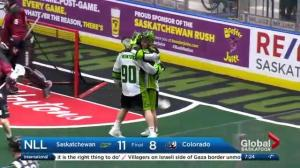 Saskatchewan Rush tops in NLL with win over Colorado Mammoth