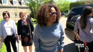Oprah visits Montreal school