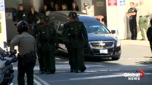 California bar shooting: Procession held to honor Sergeant Ron Helus