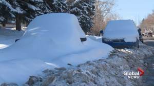 Car or mound of snow? Calgary abandoned vehicle tickets, tows soar in 2018