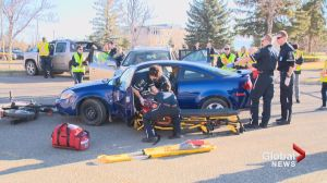 Students at Lethbridge College respond to mock disaster