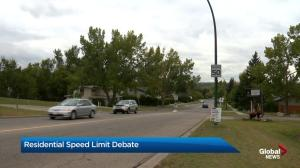 Residential speed limits to be debated by Calgary council this week