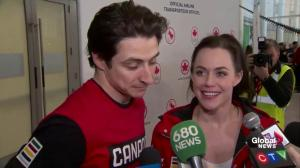 Scott Moir, Tessa Virtue talk about returning home after Olympics