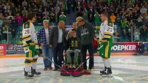 Humboldt Broncos season opening game puck drop