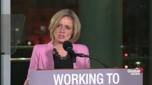 Premier Rachel Notley discusses medium-, long-term oil solutions