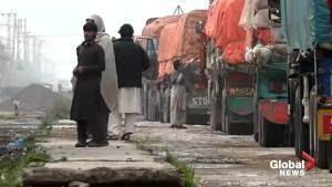 Hundreds of trucks stranded at India-Pakistan border