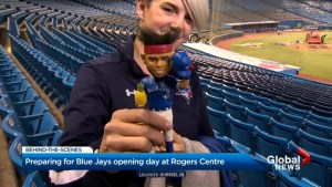 Preparations underway at Rogers Centre for Blue Jays opening day