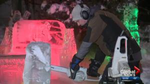 Alberta ice carver creates Harry Potter scene in his front yard