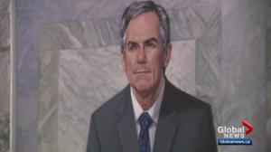 Jim Prentice honoured with official portrait at Alberta legislature