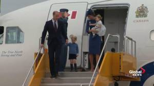 Prince William and Kate along with Prince George and Princess Charlotte arrive in Victoria