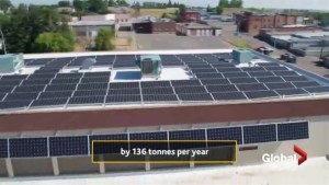 500 solar panels installed on Town of Cardston Civic Centre