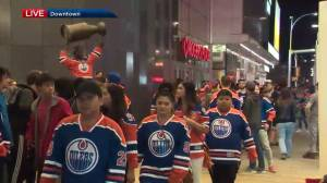 Oilers fans at Rogers Place disappointed after 2-1 loss to Anaheim