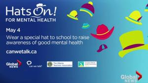 Join the Hats On! for Mental Health awareness campaign