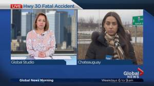 Fatal head-on collision claims four lives on Highway 30 in Châteauguay (01:20)