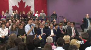 Justin Trudeau responds to question from Wet'suwet'en nation member