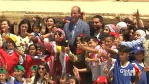 Prince William praises ties with Jordan as he begins Middle East trip