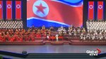 North Korea hosts a large musical and dance performance on the eve of the 70th anniversary