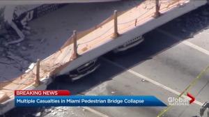Rescue mission underway in Miami after pedestrian bridge collapses