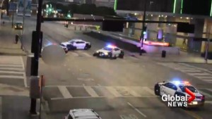 'It's a sniper?': Shocked Dallas witness captures video of police shootout with gunman