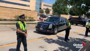 'Do something!': protesters lash out at Trump motorcade as it leaves hospital in Dayton, Ohio