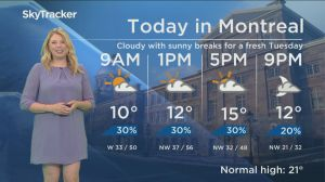 Global News Morning weather forecast: Tuesday May 21, 2019