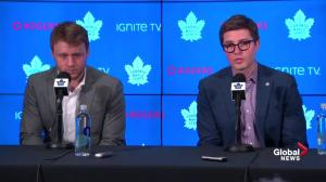 Dubas explains how they determined Morgan Rielly did not use homophobic slur